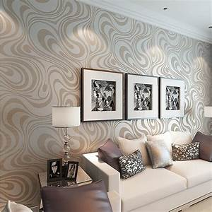 Mod Retro Chic Metallic Wavy Wallpaper Trends Home Decor ...