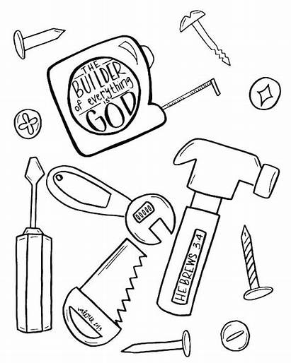Coloring Tools Pages Construction Tool Doctor Bible