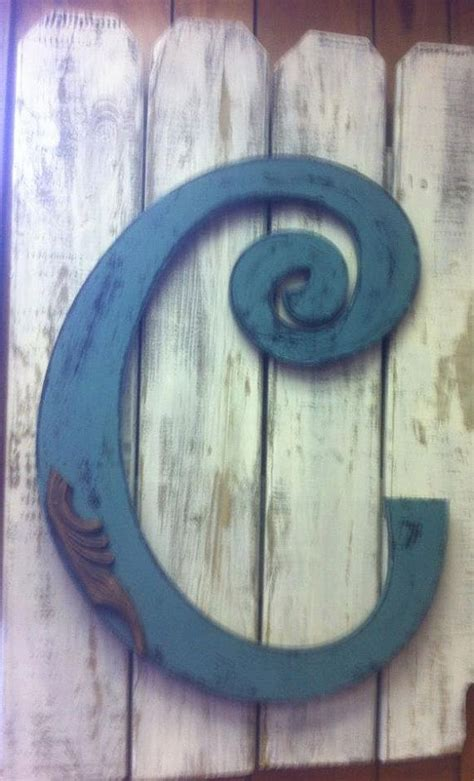 letter  initial  door hanger decor garden fence