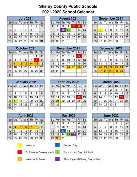 Shelby County Schools Calendar 2022 2023.Shelby County School 2021 2022 Student Calendar