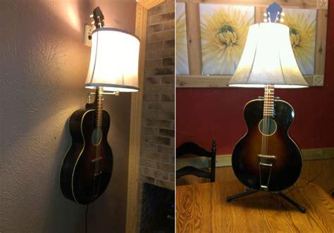 creative ways  recycle  guitar  home decor items