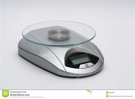 Small Silver Kitchen Scale Stock Images-image