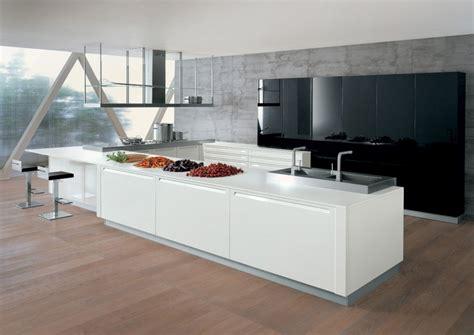 cuisine design italienne avec ilot idee cuisine en longueur 12 cuisine design italienne