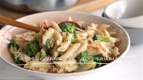 recette de cuisine au wok pâtes crémeuses au saumon et au brocoli cuisine futée