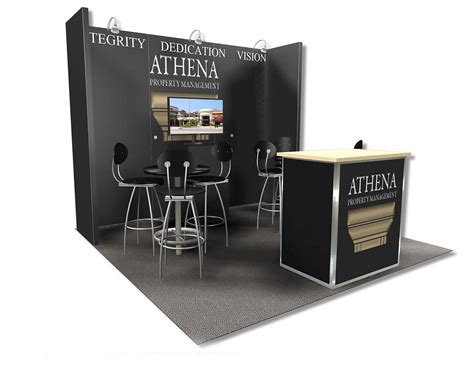 athena property management 10x10 trade show booth