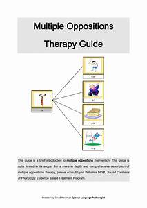Multiple Oppositions Therapy Guide