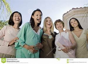 Women Laughing At Baby Shower Stock Image - Image: 29653539