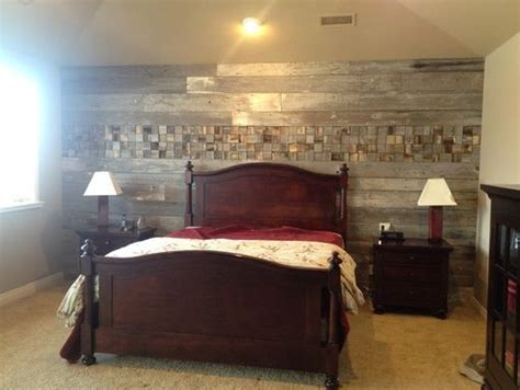 wood plank wall bedroom    accent wall   home stalker pinterest plank wall