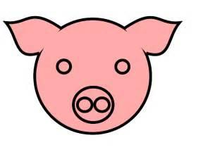 Cartoon Pig Face Clip Art