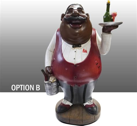 Black Chef Kitchen Decor by Black Chef Kitchen Figure With Wine Table Decor
