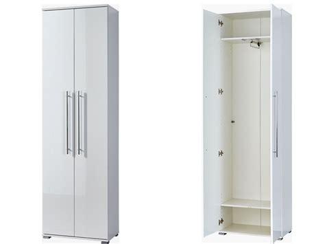 Kleiderschrank Garderobenschrank Weiß Hochglanz