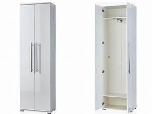 Kleiderschrank 2 50 Meter Hoch : kleiderschrank garderobenschrank wei gl nzend schmal ~ Michelbontemps.com Haus und Dekorationen