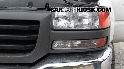 gmc 1999 2006 how to replace the headlight turn