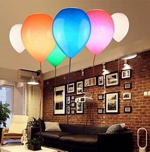 Ceiling, Light, Living, Room, Balloon, Colorful, Children, Room, Lights, Bedroom, Kids, Led, Glass