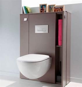 couleur decoration toilette gris et rose cuvette suspendue With wc suspendu couleur gris 9 le meuble wc archzine fr