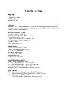 resume for college application sle transportationscrew resume sales crew lewesmr