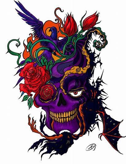 Tattoo Tato Skull Transparent Colorful Cartoon Tattoos