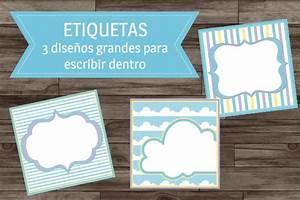 Decoracion Baby Shower Arca de Noe Azul Kit Imprimible