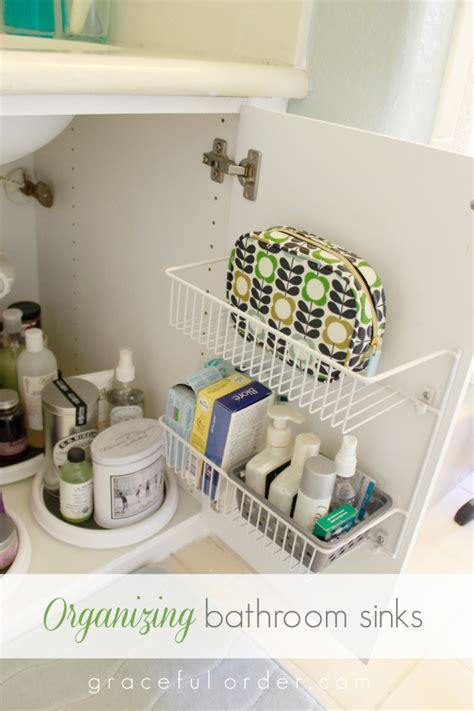 bathroom sink top organizer 15 ways to organize under the bathroom sink