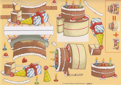 birthday cake stand   decoupage sheet