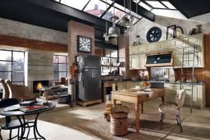 retro kitchen decor ideas déco style usine loft exemples d 39 aménagements