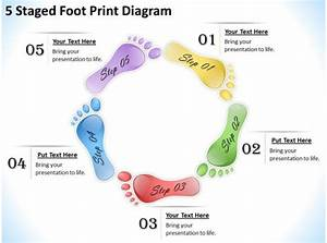 1013 Business Strategy 5 Staged Foot Print Diagram Powerpoint Templates Ppt Backgrounds For