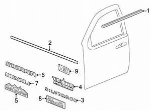 Chevrolet Silverado 1500 Door Belt Molding  Double  U0026 Crew