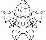 Coloring Scary Clown Drawing Cartoon Halloween Drawings Printable Cool Adult Creepy Educative Disney Educativeprintable sketch template