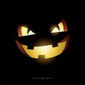 Visage Citrouille Halloween : mal visage de citrouille de halloween t l charger des vecteurs gratuitement ~ Nature-et-papiers.com Idées de Décoration