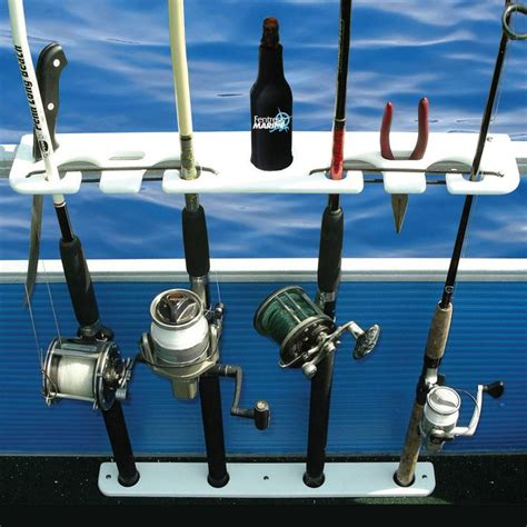 Pontoon Rod Holders by Taco Deluxe Pontoon Boat Rod Holder And Tackle Rack