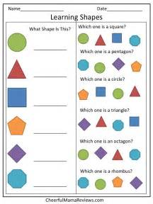 Learning Shapes Preschool Worksheet