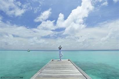 Yoga Desktop Water Maldives Wallpapersafari