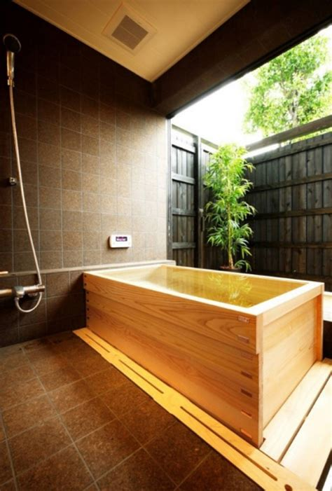 japanese soaking bathtub  wooden ideas homemydesign