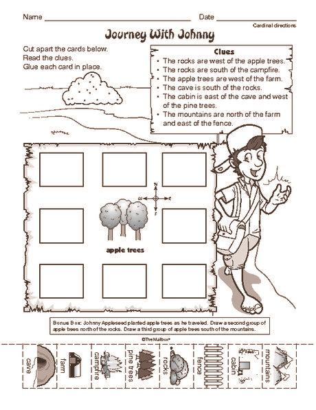 social studies worksheet cardinal directions journey with