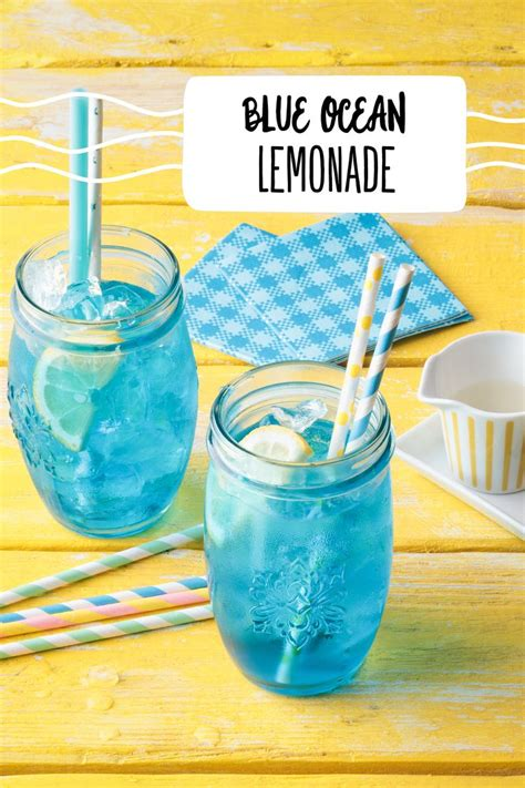 blue ocean lemonade rezept   kinder cocktail