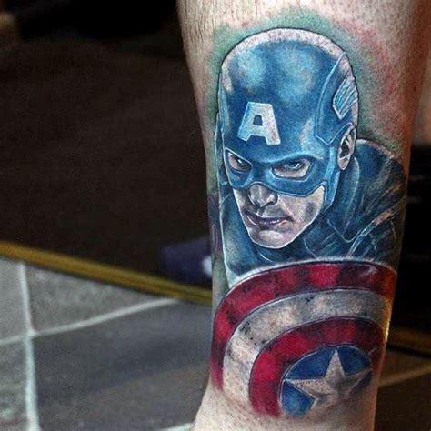 captain america tattoo designs  men superhero ink