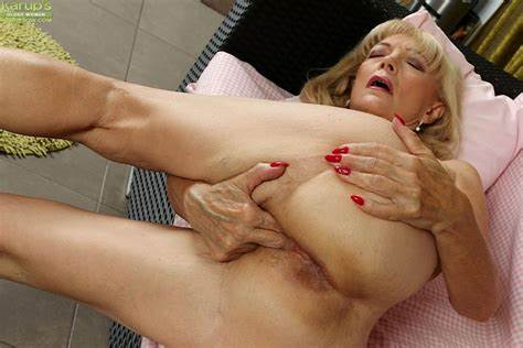 Granny Lesson Toy Fingering On The Office Classy Dirty Granny Janet Lesley Bares Large Wet Tit