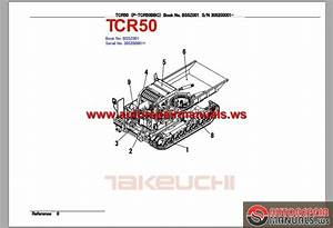 Takeuchi Dump Carrier Tcr50 Serie 30520001 Parts Manual