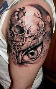 3d skull shoulder meaning cute sleeve tattoos for men ...