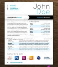 graphical resume template free graphic design resume templates search results