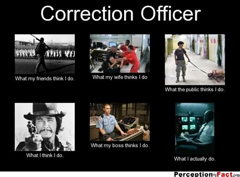 Correction Meme - correction officer what people think i do what i really do perception vs fact