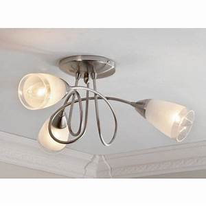 Milan Satin Nickel Ceiling Light By Homebase Goodglance