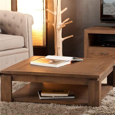buffets cuisine table basse carrée bois exotique mindi massif lydia