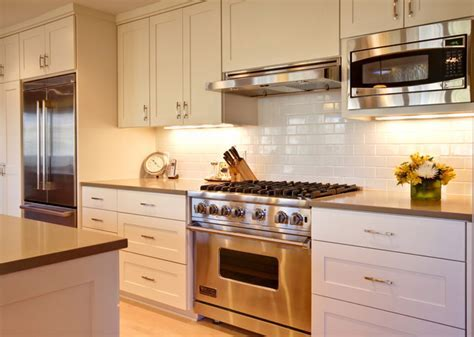 microwave vent hood Kitchen Traditional with apron sink