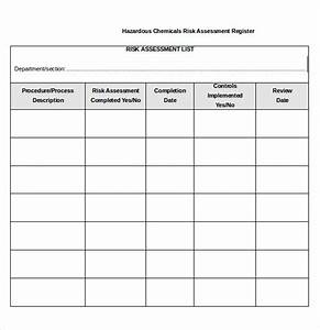 Sample risk assessment forms 10 free documents in pdf word for Chemical risk assessment template