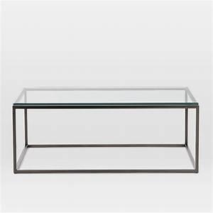 box frame coffee table glass west elm collaboration With west elm glass coffee table