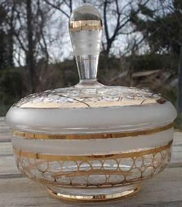 Boite En Verre Deco : boite poudre art deco verre maill powder box glass ebay ~ Teatrodelosmanantiales.com Idées de Décoration