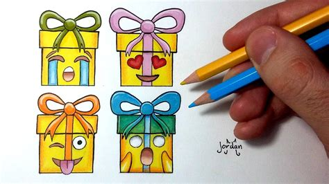 cuisine kawaii comment dessiner des cadeaux de noël emoji tutoriel