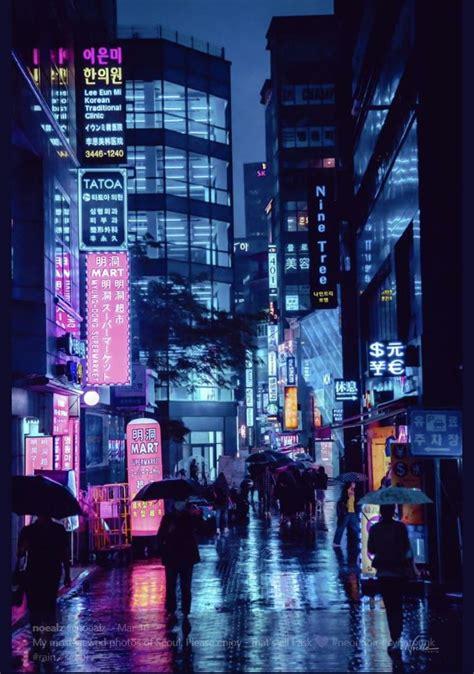 noealz  twitter city aesthetic cyberpunk city