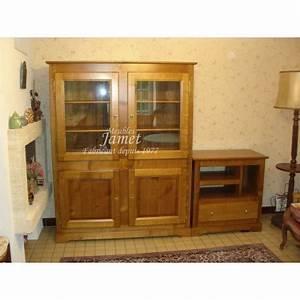 Meuble Tv Vitrine : meuble tv vitrine louis philippe meubles jamet ~ Teatrodelosmanantiales.com Idées de Décoration